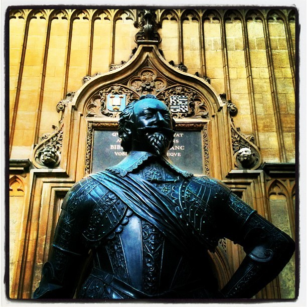 "Sir Thomas Bodley (Taken with Instagram) Straight up dude. Founded the Library. Was Duke of Gloucester.  From Wikipedia: Bodley's greatest achievement was the re-founding of the library at Oxford. In 1470, the library had been presented to the university as a gift from Humphrey, Duke of Gloucester, the youngest son of Henry IV. However, during the Reformation of the 1550s, the library had been stripped and abandoned, remaining virtually untouched until the return of Bodley in 1598. The library was later named the Bodleian Library in his honour. He determined, he said, ""to take his farewell of state employments and to set up his staff at the library door in Oxford."" In 1598 his offer to restore the old library was accepted by the university. Bodley began his book collection effort in 1600, using the site of the former library above the Divinity School, which was in near ruin. Although Bodley lived over 400 years ago, modern libraries benefit from some of his ideas and practices. One important idea that Bodley implemented was the creation of a ""Benefactors' Book"" in 1602, which was bound and put on display in the library in 1604. While he did have funding through the wealth of his wife, Ann Ball, and the inheritance he received from his father, Bodley still needed gifts from his affluent friends and colleagues to build his library collection. Although not a completely original idea (as encouragement in 1412 the university chaplain was ordered to say mass for benefactors), Bodley recognized that having the contributor's name on permanent display was also inspiring. According to Louis B. Wright,  He had prepared a handsome Register of Donations, in vellum, in which the name of every benefactor should be written down in a large and fair hand so all might read. And he kept the Register prominently displayed so that no visitor to the library could escape seeing the generosity of Bodley's friends. The plan, as it deserved, was a success, for its originator found that, 'every man bethinks himself how by some good book or other he may be written in the scroll of the benefactors.'[1]  For over four centuries, this innovative idea has continued to motivate friends of libraries everywhere. Another significant event related to Bodley was the agreement between the Bodleian Library and the Stationer's Company, in which ""the Company agreed to send to the Library a copy of every book entered in their Register on condition that the books thus given might be borrowed if needed for reprinting, and that the books given to the Library by others might be examined, collated and copied by the Company.""[2] This was the beginning of legal deposit libraries, and today the Bodleian is one of six such libraries in the United Kingdom and Ireland. In 2003, the Copyright Act of 1911 was expanded to include information on CD-ROM and websites. This regulation is in place to ensure the collection and preservation of all published materials as an accurate, up to date historical record. Read More Here"
