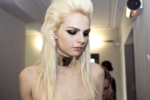 rainertorrado:  The second outfit of @Andrej_Pejic backstage @JPGaultier Fall 2012 Couture show #PFW