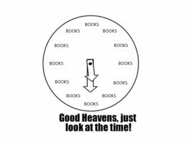 Oh! It's book o'clock. Gotta go read. :)