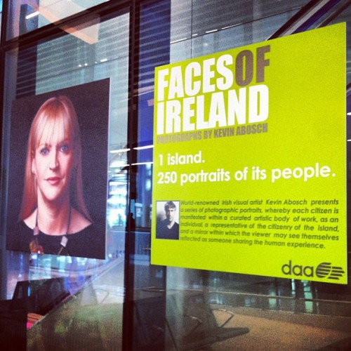 Faces of #Ireland an exhibition by #Irish visual artist #KevinAbosch at the #dublin #airport  (Taken with Instagram)