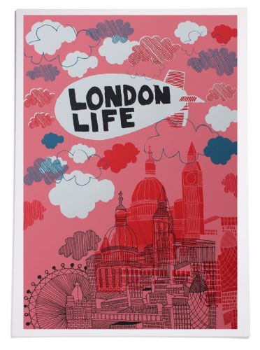 (via This Is Rude > Shop > London Life A1 Screen Print)