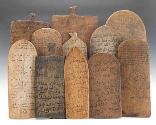 West African Islamic Teaching Tablets. Found here via Art Propelled.