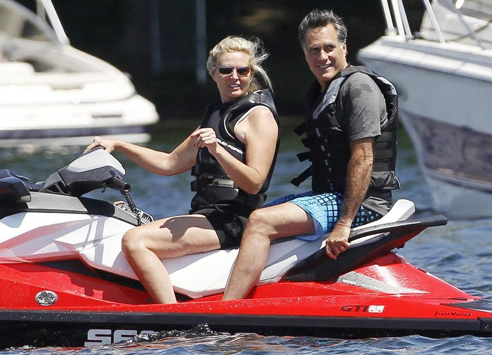 JOAN VENNOCHI Mitt Romney on a jet ski - the GOP candidate's Kerry moment?  In politics, visuals matter. And in presidential politics, perception matters even more, which is why a photo of Mitt Romney on a jet ski may not help him. (CHARLES DHARAPAK/ASSOCIATED PRESS)