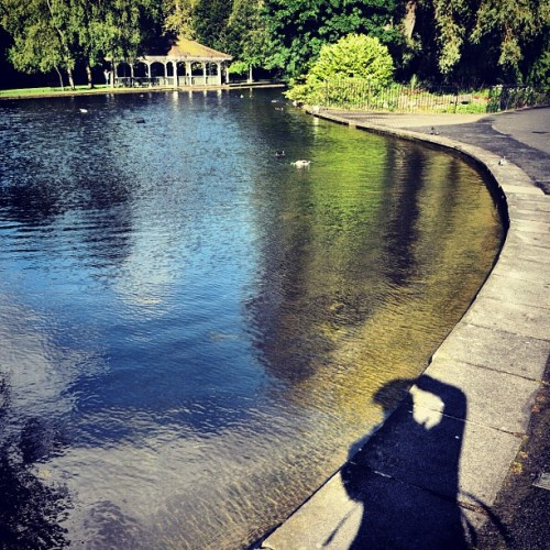 My customary #shadow shot. This one at the Saint Stephen's Green Park in #dublin #ireland  (Taken with Instagram)