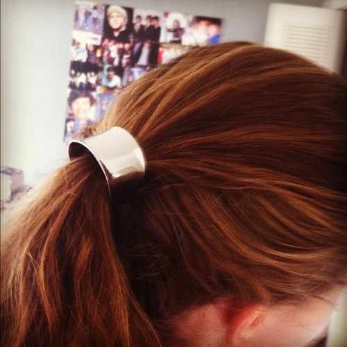 Hair cuff. #me #hair #accessory #cuff #haircuff #brown #love #fashion #metallic (Taken with Instagram)