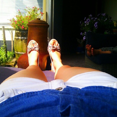 Summer outfit #like #nice #dope #swag #me #garden #shoes #nails #nailpolish #fashion #instafashion #popular  (Taken with Instagram)