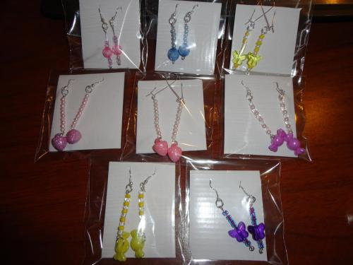 All the earrings that i done.