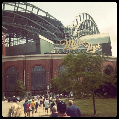 4th of July. Brewers vs. Marlins @ Miller Park. (Taken with Instagram)