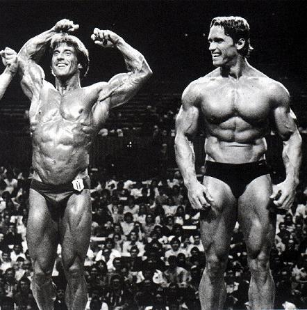 "Look at these meatheads! Arnold: ""Come on Frank, lets get serious!"""