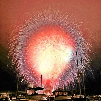 "Premature Ignition July 4th fireworks in San Diego Bay were cancelled last night after they all pretty much simultaneously exploded on three of the four barges they were to launch from. Garden State Fireworks, the company that was producing the show, released the following statement:  ""The Garden State Fireworks team will be working throughout the night to determine what technical problem caused the entire show to be launched in about 15 seconds. ""We apologize for the brevity of the show and the technical difficulties. More information will be posted when available.""  Takeaway: Mistakes can lead to pretty pictures. Image: Instagram of what happens when all your fireworks explode at once. Via benballer."