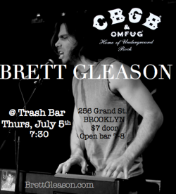 Ready to ROCK the #CBGB Festival tonight !! No festival pass necessary, just come to the Trash Bar in Brooklyn at 7 for the open bar and stay to drunkenly rock.