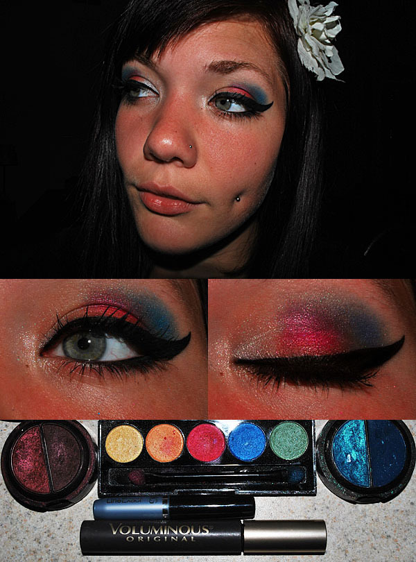 makeupftw:  i know this is late but its my fourth of july make up! if you have any feedback, please feel free to send me a message. thanks! :]http://connor-phillipsss.tumblr.com/