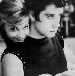 suicideblonde:  Olivia Newton-John and John Travolta during the filming of Grease in 1978