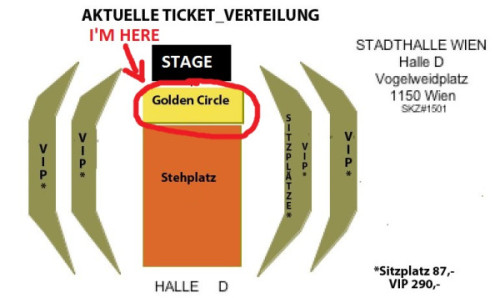 I have Golden circle ticket on Justin's concert in Vienna (3/30/13). I live in the Czech Republic but he won't have a concert in my country so that's why I'm going to Austria. I've never met Justin before so I'm so excited and I still can't believe I have ticket!!