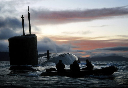 Royal Navy Submarine HMS Talent Conducts Surfacing Drills in Scotland by Defence Images on Flickr.