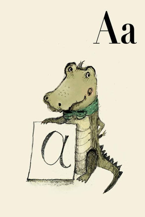holli (via A for Alligator Alphabet animal Print 6x8 inches by holli on Etsy)