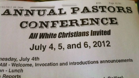"bacon-beer-n-boobs:  think-progress:  An Alabama pastor is holding a ""whites only"" conference.  What the actual fuck?!"