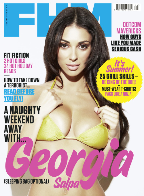 New FHM out today! Featuring the lovely Irish lass Georgia Salpa.