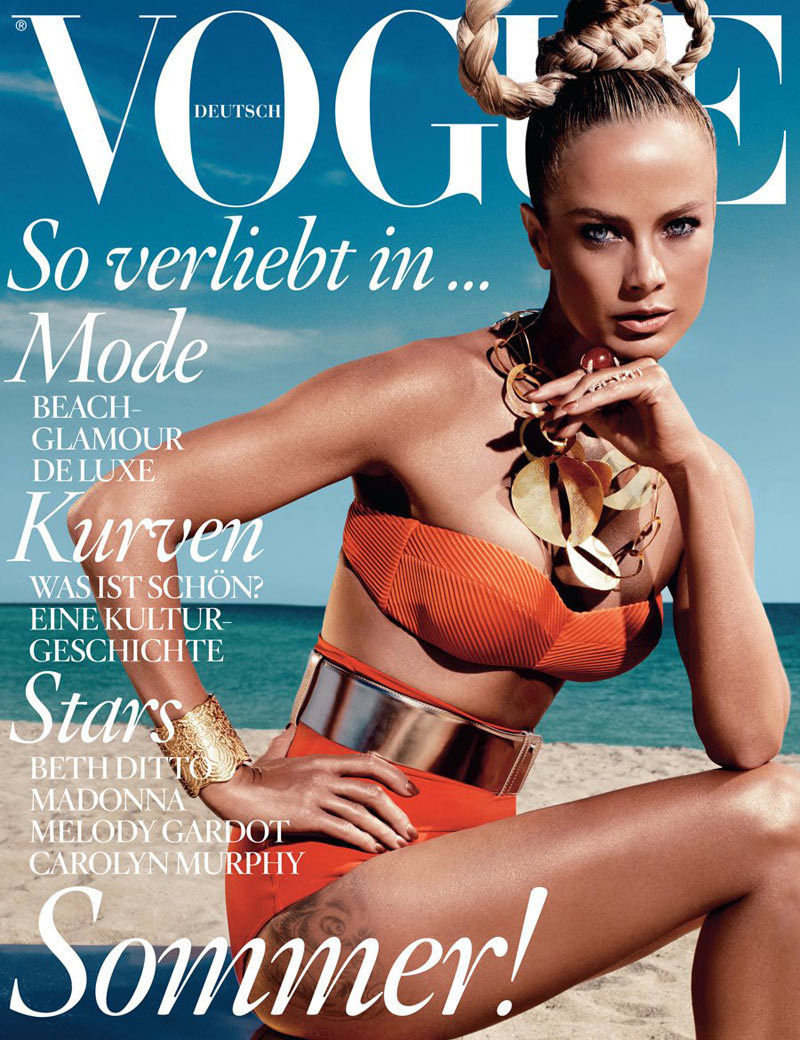 fuckyeahvintagediary:  Vogue Germany June 2012 Cover Carolyn Murphy by Alexi Lubomirski