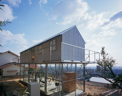 Barn Stacked Atop A Glass House
