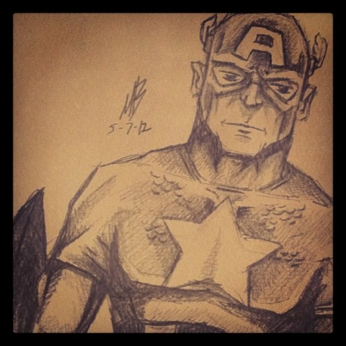 #captainamerica #marvel #avengers #comics #sketch #steverogers (Taken with Instagram)