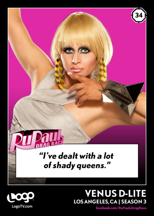 It's RuPaul's Drag Race TRADING CARD THURSDAY #34: Venus D-Lite!