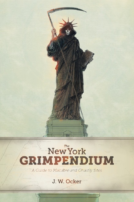 Cover art for my husband's latest book:  The New York Grimpendium: A Guide to Macabre and Ghastly Sites.  Should be in stores starting September.  Look for it and let me know if/when you spot it!