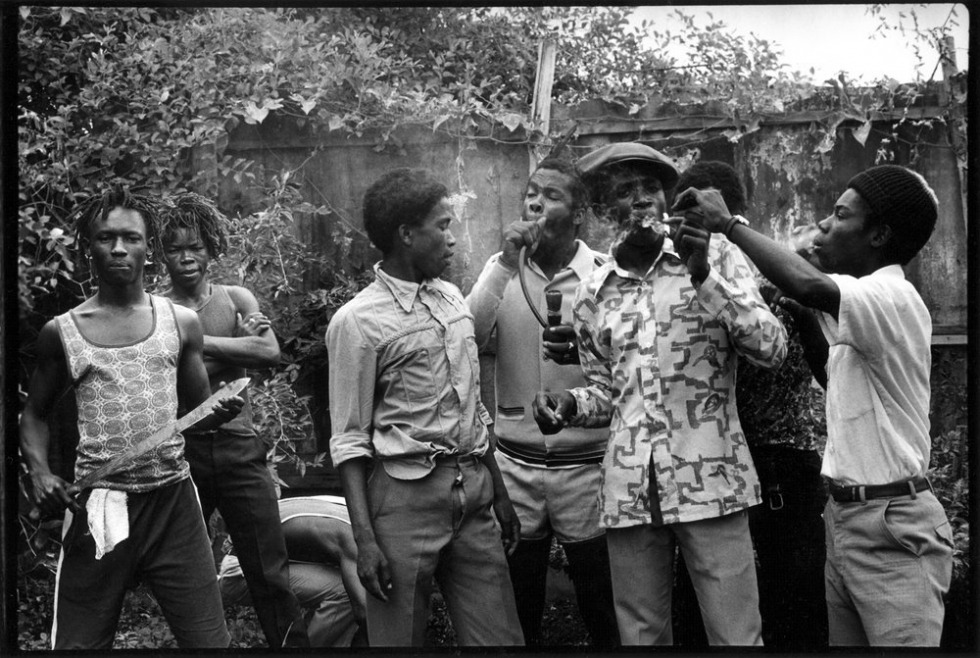 """Trench Town, 1977"" In the late 1970's, English photographer Dave Hendley traveled to Jamaica, to meet his musical heros—the reggae musicians of the day. He came back with an intimate portrait of what we (and he) think is one of the best music scenes, ever. Image: © Dave Hendley"