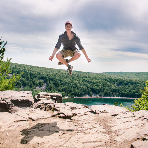 Levitating at Devil's Lake State Park, WI