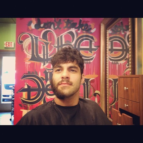 Check out @robbierags mid-shave & haircut. (Taken with Instagram)
