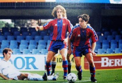 Xavi and Puyol