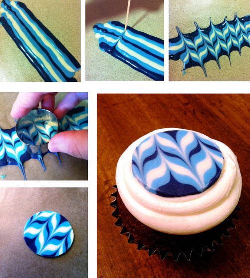 awkwardcupcake:  DIY Chocolate Topper Tutorial by Kim C. (NJ) on Flickr.
