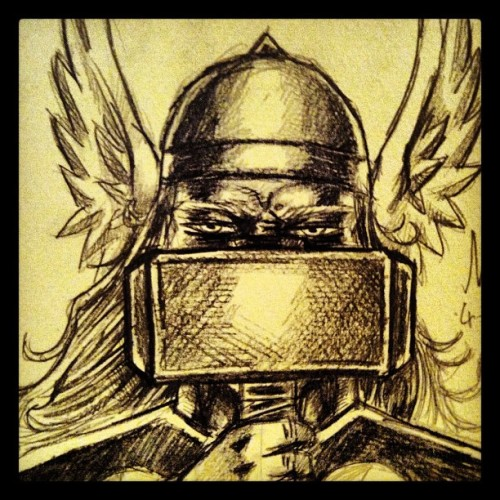 #thor #comics #avengers #marvel #sketch #odinson (Taken with Instagram)