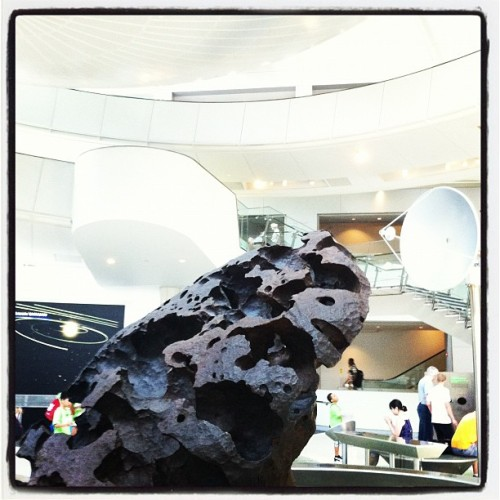 The Willamette Meteorite, aka Tomanowos, made entirely of iron and weighing 15.5 tons.  (Taken with Instagram at American Museum of Natural History)
