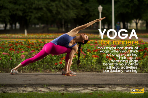 You might not think of yoga when you think of cross-training. Think again. Practicing yoga benefits your other athletic activities, particularly running.