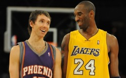 Steve Nash is going to the freakin' Lakers?!  I just read an article yesterday where Nash talked about how he didn't think he could put on a Lakers' jersey. I guess he got over it. I haven't read the details but I guess this move puts him closer to his kids. Can't fault a guy for that.  Now that the Lakers have a real point guard, they're looking a little scary. Especially if Kobe can keep playing like he did last year. Rumors have been saying for awhile that the Lakers want to trade Gasol. It'll be interesting to see who they could get for him. The Lakers are planning to have Kobe, Nash, Bynum, and Gasol as the core of the Lakers this coming season. Ramon Sessions is out of the picture now. For those who are concerned, Dragic Goran is going to be the Suns' starting PG. They also picked up Michael Beasley. Hm.  Edit: I'd just like to say, even though I don't want the Lakers to be a better team (Go Thunder!), they should really consider ditching Bynum. He's too temperamental and childish. Get rid of him and get someone who won't drag down the team's morale.