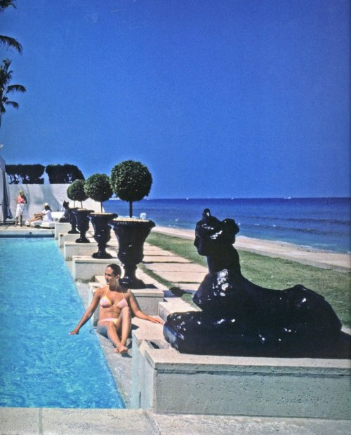 Dream life. transparentvignettes:  Palm Beach, 1980s