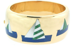 "Tiffany & Co. ""Sailboats"" Vintage Bangle Bracelet"