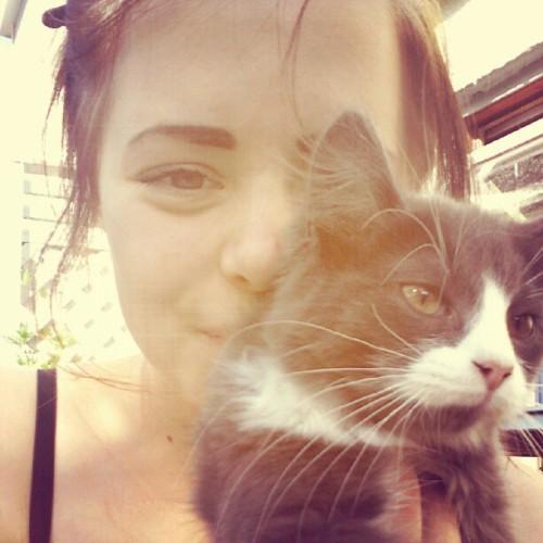 #me #girl #norwegian #kitten(Taken with Instagram)