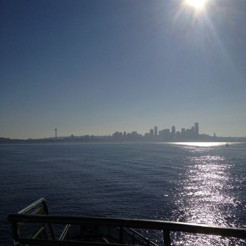 Beautiful ferry ride to work this morning (Taken with Instagram at M/V Walla Walla (Washington State Ferries))