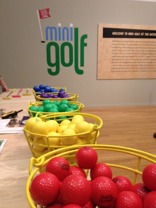 Step right up and choose a color at the Museum's new Mini-Golf course!