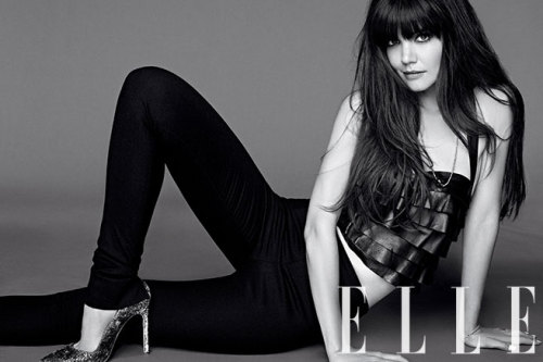 Katie Holmes will cover the August issue of Elle US