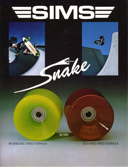 Throwback Thursdays! We dug deep to find this classic SIMS Skateboards ad.