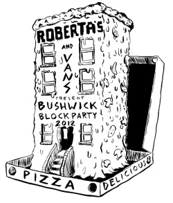 Pizzas are delicious Triangles, this is a design for Roberta's Bushwick Blockparty  hopefully they turn it into a shirt.