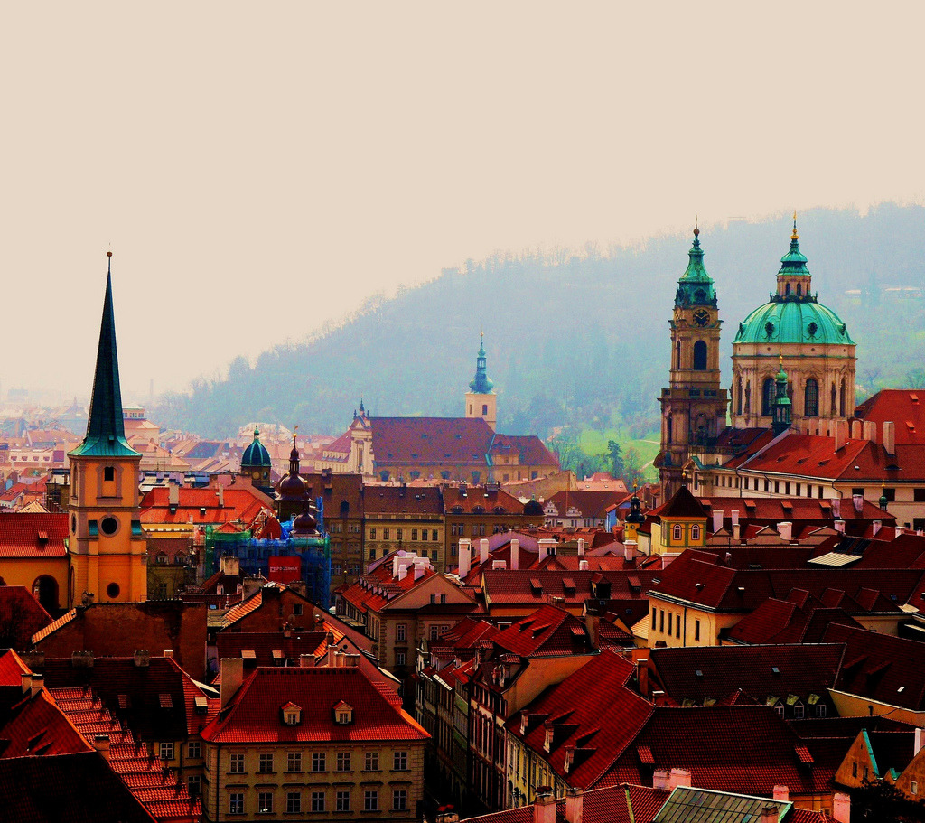 allthingseurope:  Rooftops - Aspects of Prague (by rnoltenius)