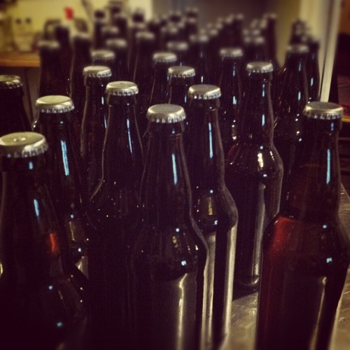 "I just bottled my holiday beer, ""You and Me and The Devil Makes Three"". Merry fuckin' Christmas! (Taken with Instagram)"