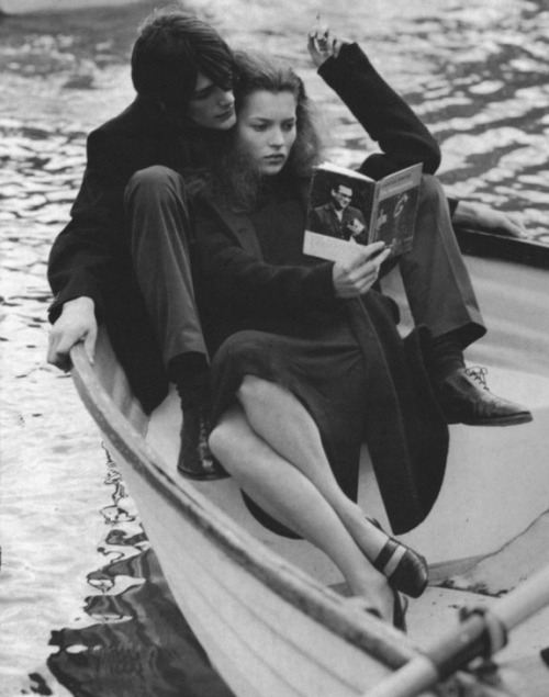kate moss shot by bruce weber for vogue italia