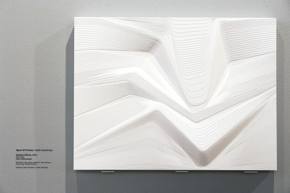 processingmatter:  Edaphic Effects (CNC-milled plaster site model) by Karen M'Closkey and Keith VanDerSys