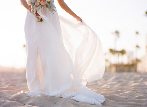 Laid back beach wedding