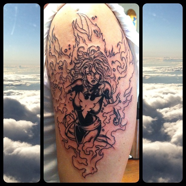 dark phoenix, session one. #xmen oh yah. mike moses www.thedrowntown.com (Taken with Instagram)